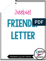 FriendlyLetterFreebie  To Teach
