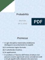 Probabilità 041110