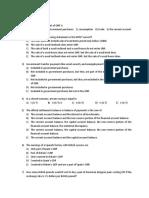 International Finance Multiple Choice Examples