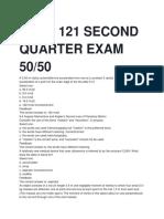 PHYC 121 SECOND QUARTER EXAM 50.docx