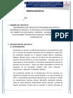 MEMORIA DESCRIPTIVA DE ESTUDIO DE RESTOS ARQUEOLÓGICOS CIRA