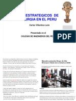 Aspectos Estrategicos de La Metalurgia en El Peru