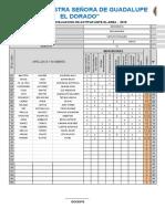 Formato - Registro Oficial de Evaluación -Secundaria III Bimestre