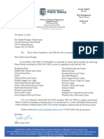 Letter from Justin Luna to Nevada Gaming Control chairwoman Sandra Morgan