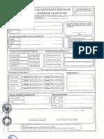 Formato Solicitud Certificado Digital Firma Operador Registro