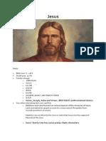 Biography of Jesus Christ.
