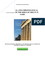 Historical and Chronological c