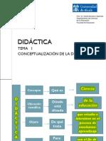 TEMA 1 Conceptualización de la Didáctica