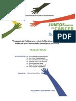 Propuesta de Política Pública Nacional para reducir la Morbimortalidad de personas por enfermedades oncológicas en el Perú