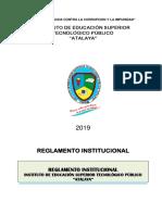 REGLAMENTO INSTITUCIONAL 2019 ACTUALIZADO