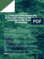 El currículo como posibilidad de reconocimiento al derecho a una educación inclusiva en Colombia