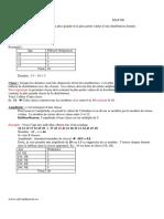 calcul Etendue Classe