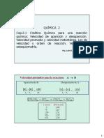 Clase Cap 2.1 Cinetica Quimica -Ley de Velocidad