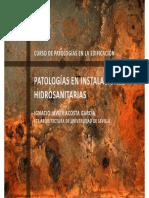 Patologias en Instalaciones Hidrosanitarias