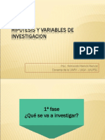 Hipotesis y Variables de Investigacion
