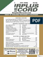 JANUARY 2020 Surplus Record Machinery & Equipment Directory