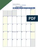 Calendario 2020 Dias Feriados Mexico
