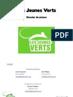 Dossier de Presse Jeunes Verts