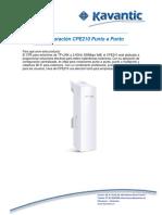 Configuración CPE210 Punto a Punto