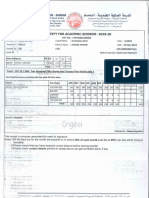 Tution Fees December 2019