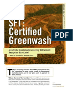 SFI Certified Greenwash Report Forest Ethics