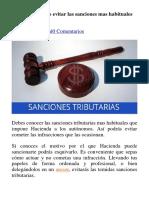 EVITAR Y COMBATIR SANCIONES TRIBUTARIAS