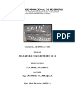 INFORME SOLDADURA saul