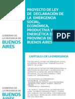 Proyecto de Ley EMERGENCIA PROVINCIA DE BUENOS AIRES