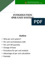 Per Unit Calculations
