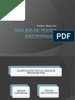 ANÁLISIS DE TEXTOS DISCONTINUOS