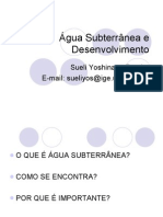 Agua subterrânea e desenvolvimento