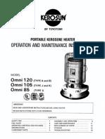 Omni 85 (Type I) Owner's Manual