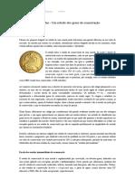 Qualidade das moedas - Um estudo dos graus de conservação