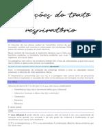 Infecções do trato respiratório-BIOINTERAÇÃO