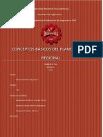 Conceptos básicos del planeamiento regional