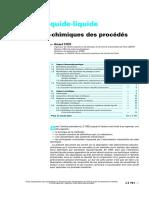 Extraction Liquide-liquide - Bases Physico-chimiques Des Pro
