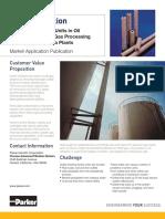 Filtracion de Aminas para tratamiento de unidades  en Refinerias, Plantas de Procesamiento de Gas Natural y Plantas de Amoniaco