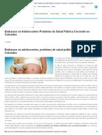 Embarazo en Adolescentes Problema de Salud Pública Creciente en Colombia - Sociedad Colombiana de Pediatría _ SCP