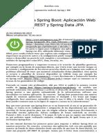 Introducción a Spring Boot  Aplicación Web con servicios REST y Spring Data JPA – danielme.com