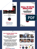 2019 Hall of Fame Program