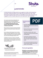 Healthy eating and stroke