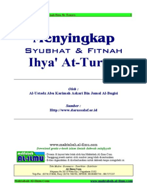 Menyingkap Syubhat Dan Fitnah Ihya Turots Oleh Ustadz Askari Hafidzahullah Pdf