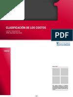 clasificación  costos