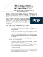 PHILIPPINE RULES ON TELECONFERENCING OR VIDEOCONFERENCING.doc