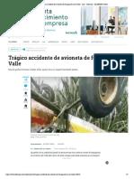 Trágico accidente de avioneta de fumigación en el Valle - Cali - Colombia - ELTIEMPO.COM