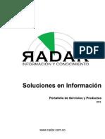 Port a Folio de Servicios y Productos RADAR