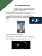 CONSECUENCIAS DE LA LEY DE GRAVITACION UNIVERSAL