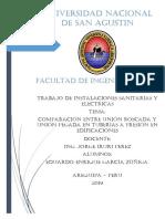 COMPARACIÓN ENTRE UNIÓN ROSCADA Y UNIÓN PEGADA EN TUBERÍAS A PRESIÓN EN EDIFICACIONES.pdf