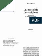 Eliade Mircea La Nostalgie Des Origines