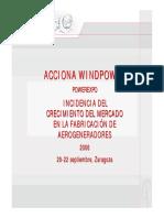 INCIDENCIA DEL CRECIMIENTO DEL MERCADO EN LA FABRICACIÓN DE AEROGENERADORES